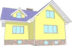 Casa do vetor isolada no fundo branco Imagens de Stock