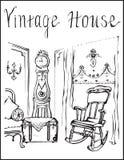 Casa do vintage Fotos de Stock Royalty Free