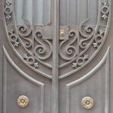 A casa do vintage forjou o detalhe da porta Fotografia de Stock