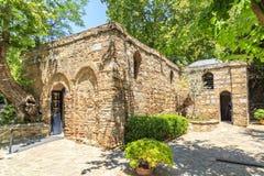 A casa do Virgin Mary Meryemana, acreditada para ser a última residência de Mary imagem de stock
