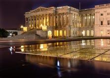 Casa do Washington DC da noite do Capitólio dos E.U. dos representantes Fotos de Stock Royalty Free
