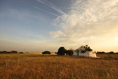 Casa do whit da paisagem Imagem de Stock