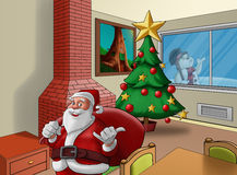 Casa do Xmas Foto de Stock Royalty Free
