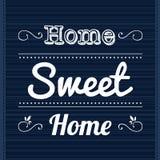 Casa doce home do slogan ilustração royalty free