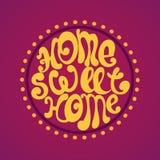 Casa dolce casa, illustrazione del fondo di vettore Fotografie Stock Libere da Diritti