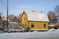 Casa dolce di inverno Fotografia Stock Libera da Diritti