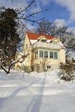 Casa dolce di inverno Fotografia Stock