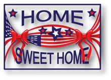 Casa dolce domestica della bandiera americana Immagine Stock Libera da Diritti