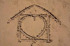 Casa dolce domestica sulla spiaggia Fotografia Stock Libera da Diritti