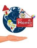 Casa dolce domestica - terra del pianeta Immagine Stock