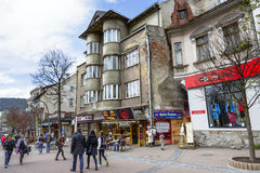 A casa Dom Krzyzaka do tijolo em Zakopane Imagem de Stock Royalty Free