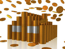 Casa dorata delle monete Illustrazione di Stock