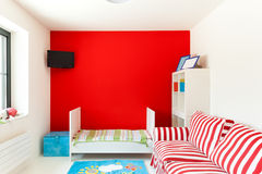 Casa, dormitorio agradable Fotografía de archivo libre de regalías