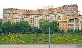 A casa dos arquitetos no dia de verão Moscou, terraplenagem de Rostovskaya, 5 imagens de stock