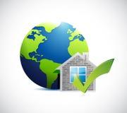 a casa dos bens imobiliários aprova o international Fotos de Stock