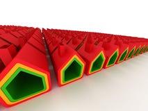 Casa dos bens imobiliários na opinião de perspectiva Fotos de Stock