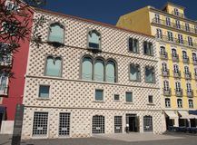 Casa dos Bicos - House of Spikes at Alfama, Lisbon Royalty Free Stock Images