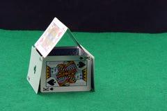 Casa dos cartões de jogo Imagem de Stock Royalty Free