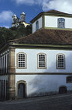 Casa dos Contos and Saint Francis church in Ouro Preto, Brazil. Stock Photos