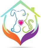 Casa dos cuidados dos animais de estimação ilustração do vetor