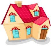Casa dos desenhos animados Fotos de Stock Royalty Free