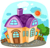 Casa dos desenhos animados Fotografia de Stock Royalty Free