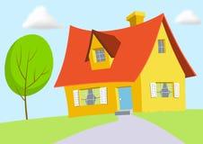 Casa dos desenhos animados Imagens de Stock Royalty Free
