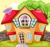 Casa dos desenhos animados Foto de Stock Royalty Free