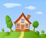 Casa dos desenhos animados Fotos de Stock