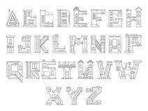 Casa dos desenhos animados do alfabeto Ilustração Stock