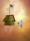 Casa dos pássaros Ilustração do Vetor
