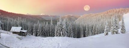 Casa dos pastores no inverno Foto de Stock Royalty Free