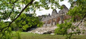 Casa dos pombos na cidade do Maya de Uxmal Fotos de Stock Royalty Free