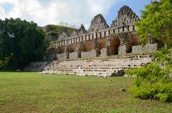 Casa dos pombos na cidade do Maya de Uxmal, Iucatão. México Fotos de Stock Royalty Free