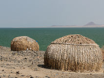 Casa dos povos do tribo do EL Molo Foto de Stock