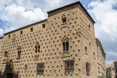 Casa dos shell de Salamanca foto de stock