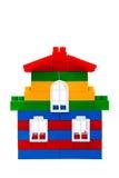 Casa dos tijolos do brinquedo Fotos de Stock Royalty Free