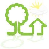 Casa e árvore ilustração stock