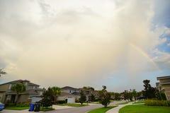 Casa e arco-íris de Florida Imagens de Stock Royalty Free