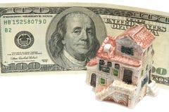 Casa e dinheiro Foto de Stock