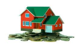 Casa e dinheiro. Fotos de Stock Royalty Free