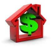Casa e dinheiro Fotos de Stock Royalty Free