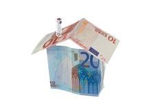 Casa e dinheiro Imagem de Stock Royalty Free