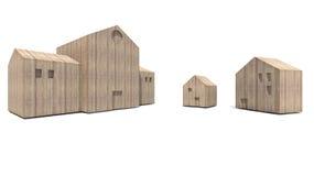 Casa e escola de Wodden Fotos de Stock
