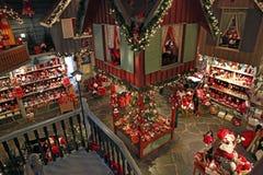 Casa e estação de correios de Santa Claus Fotos de Stock Royalty Free