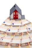 Casa e euro- cédulas Foto de Stock Royalty Free