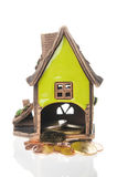Casa e euro- moedas Imagens de Stock