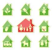 Casa e famiglia royalty illustrazione gratis