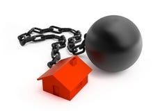 Casa e fetters rossi Immagini Stock Libere da Diritti