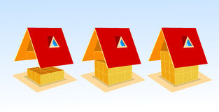 Casa e gráfico Imagem de Stock